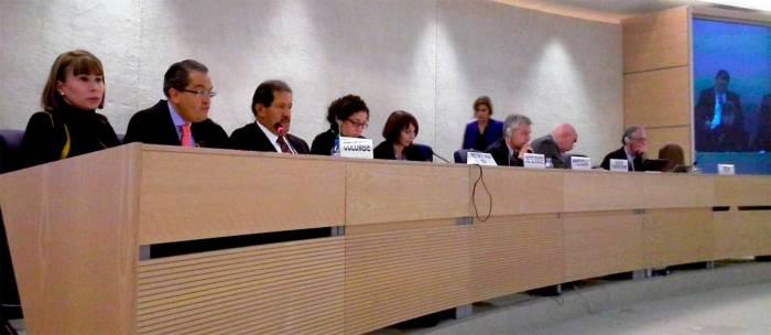 Colombia en la presentación del Examen Periódico Universal del Consejo de Derechos Humanos de la ONU en abril de 2013