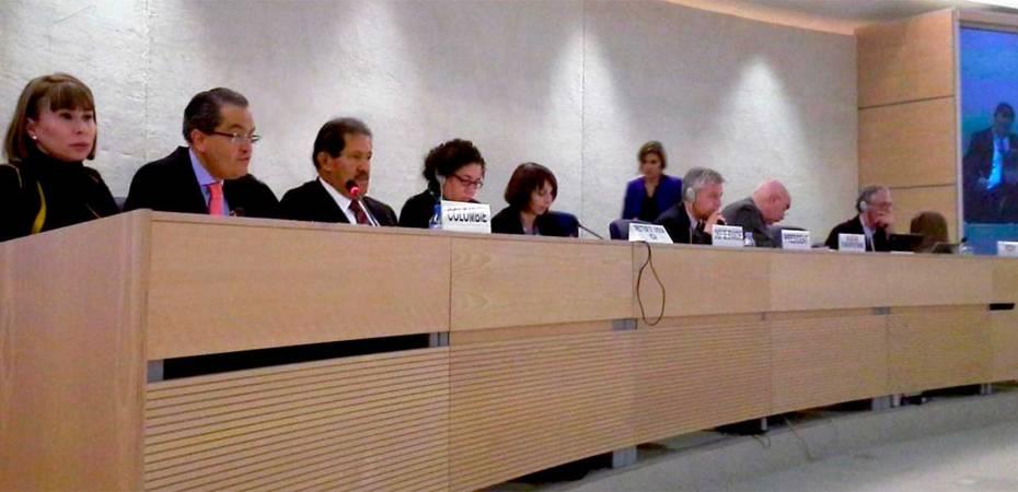 Angelino Garzón, Vicepresidente de Colombia, en la presentación del Examen Periódico Universal del Consejo de Derechos Humanos de la ONU