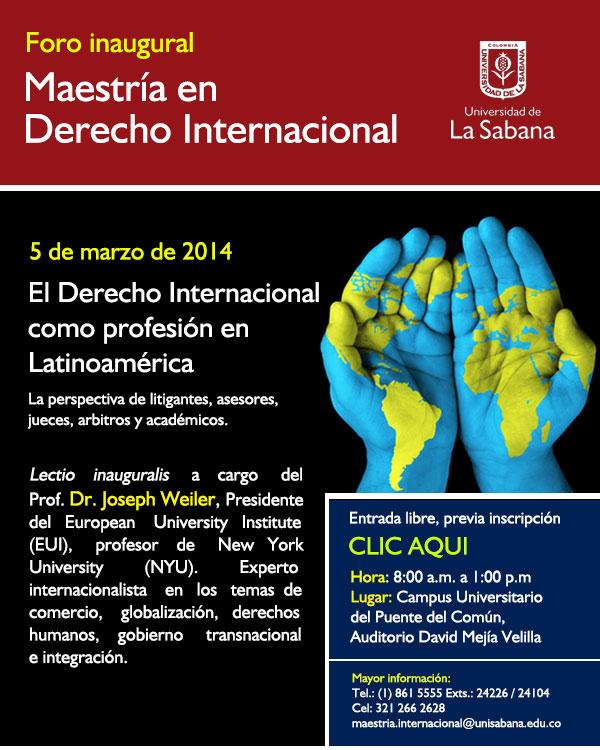 foro-maestria-derecho-internacional-universidad-de-la-sabana-joseph-weiler