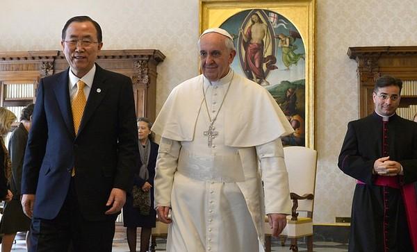 Ban Ki-moon, Pope Francis