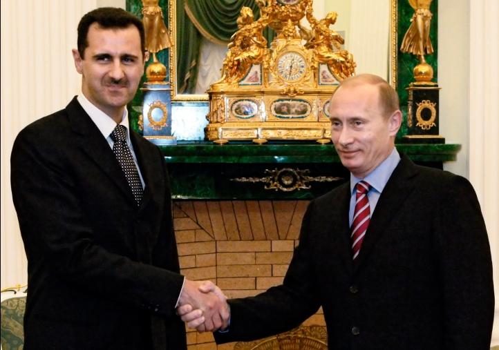 Bashar Assad, Vladimir Putin