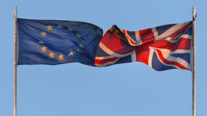 EU and UK flags